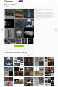 Наполнение сайта сетами 3D models