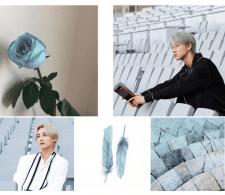 голубая роза.