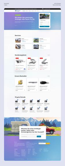 Дизайн сайта немецкой компании по продаже прицепов