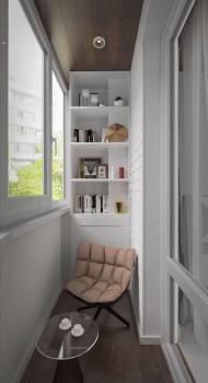Двухкомнатная квартира 80 м2. Балкон