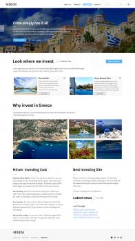 Информационный сайт для компании Mirum