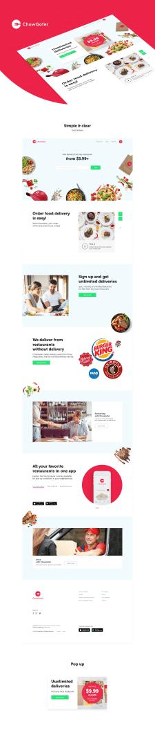 Дизайн сайта для ChowGofer
