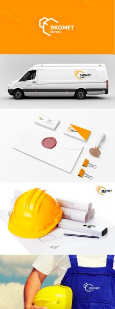Лого и фирменный стиль для Экомет сервис