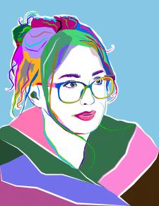 Отрисовка портрета в стиле WPAP