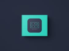 Коробка TV приставки - логотип магазина UP&OUT