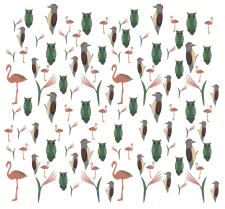 паттерн с птицами