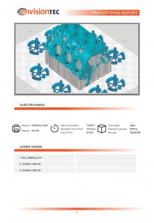 HTML - верстка  для печати отчетов для 3D принтера