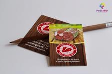 """Визитка для интернет магазина """"Гильдия мяса"""""""