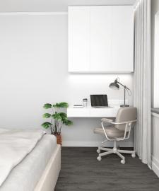 Дизайн проект рабочей зоны в спальне