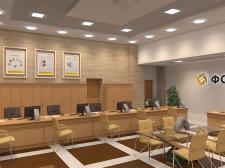визуализация интерьера банка