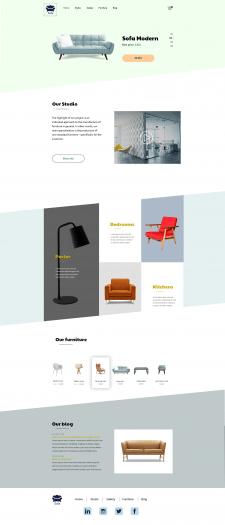 Адаптивный дизайн для магазина мебели
