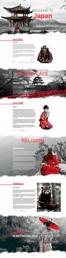 Дизайн сайта о Японии