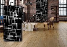Рисунок графический в стиле лофт на стеновую панел