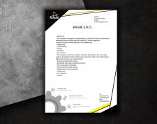 дизайн листа компании