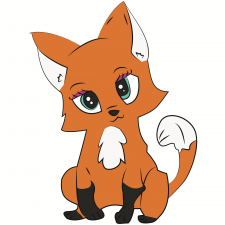Иллюстрация лисички