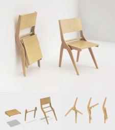 Деревянный складывающийся стул