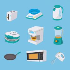 Сет иконок с кухонной техникой