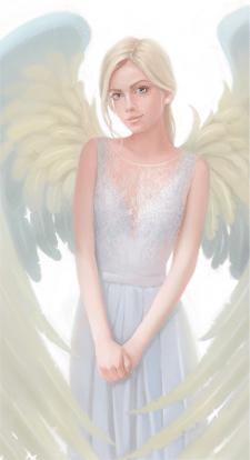 Блондинка с крыльями