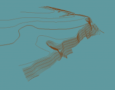 Отрисовка рельефа месности