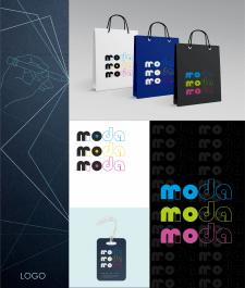 логотип для магазина одежды Moda