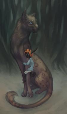 Маленький демон и его друг-кот Жак
