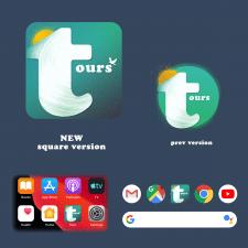 Иконка для мобильного травел-приложения