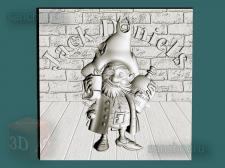 """3D-модель stl для ЧПУ """"Pirate-Jack Daniel's"""""""