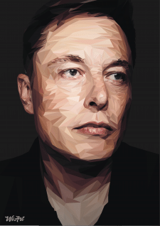 Elon Musk LOW POLY