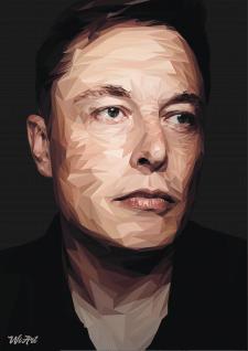Elon Musk LOW POLY