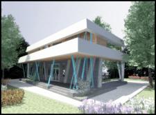 Дом с косыми колоннами