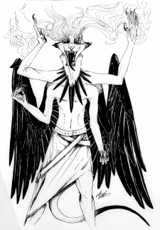 Raven God. Graphics.