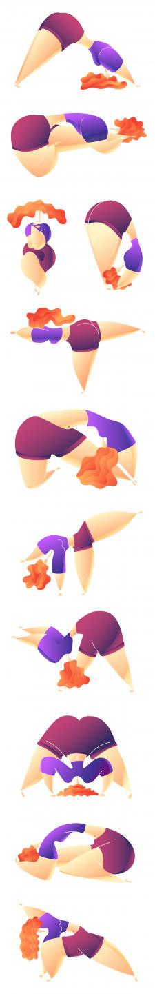 Иллюстрации для сайта йоги