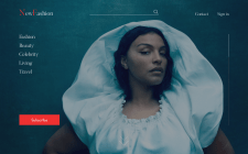 Landing page for fashion blog
