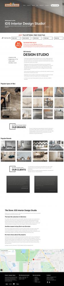 Сайт по продаже керамической плитки