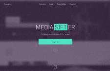 Верстка админпанели сайта Media Sifter