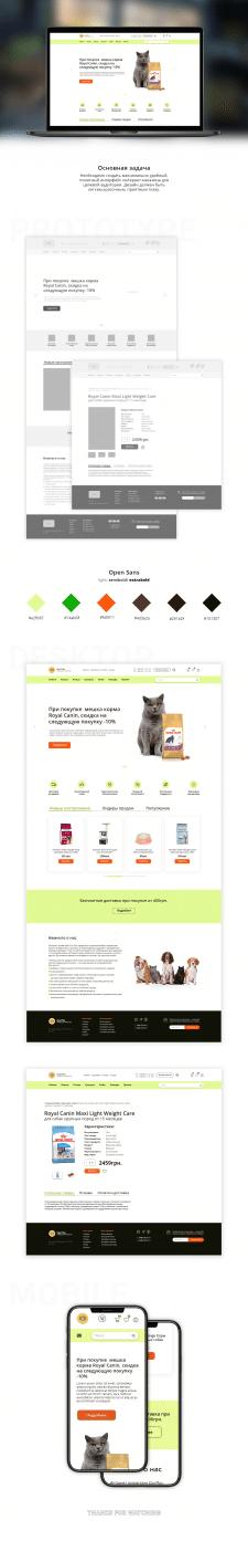 """Прототип-е и дизайн интернет-магазина """"Zoo Plus"""""""