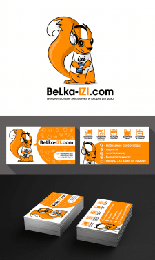 Персонаж и Визитка BeLka-IZI.com
