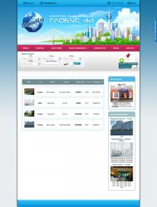 Дизайн для сайта по продаже недвижимости