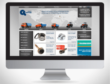 Дизайн сайта запчастей Export