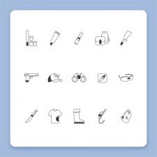 """Набор иконок для интернет магазина """"Козаки"""""""