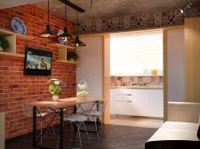 Кухня лофт в стиле востока
