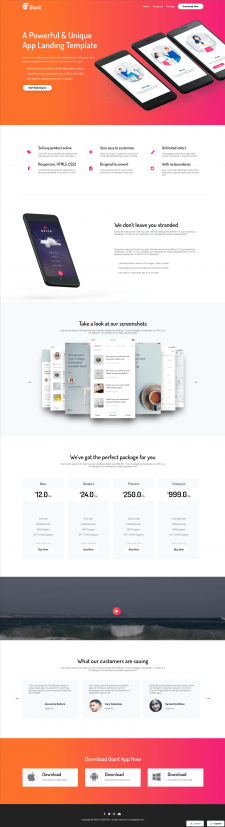 """Landing Page """"Giant"""""""