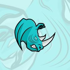 Логотип в виде носорога, для фирмы