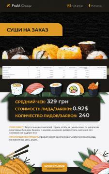 Доставка Суши - Facebook, 240 заказов по $0,92