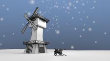 зимняя мельница