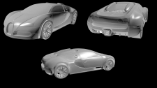3D-модель автомобиля Bugatti Veyron в Maya