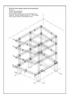 Коттедж каркасный 3-4 этажа с подвалом