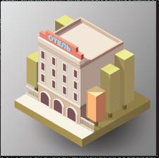Векторный Отель в изометрии