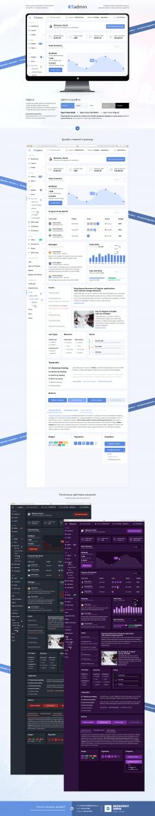 RTadmin. Дизайн административной панели