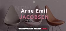 Дизайн первой страницы сайта для магазина мебели